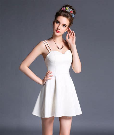 modas con blanco y negro verano partido mini vestido 2015 sexy sin tirantes corto