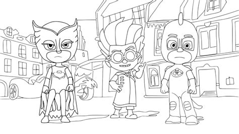 top 30 pj masks coloring pages of 2017