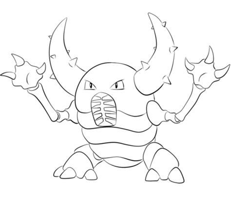 pokemon coloring pages heracross dibujo de pinsir para colorear dibujos para colorear