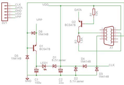 jdm programmer circuit diagram puran s diy pic programmer ic prog