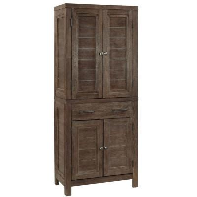 Pantry Temperature by Home Styles Barnside Wood Kitchen Pantry In Weather Aged