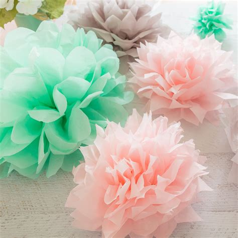 How To Make Pom Poms Out Of Tissue Paper - tissue paper pom poms tutorial 187 loganberry handmade
