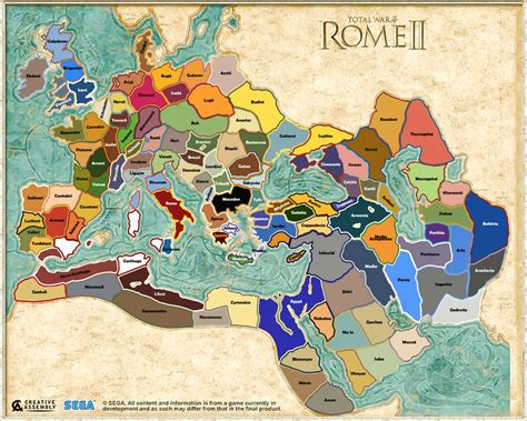 rome total war map improved map and faction list