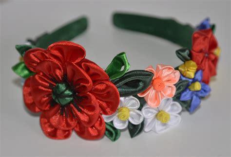 cerchietti per capelli con fiori cerchietto con fiori kanzashi fatti a mano donna