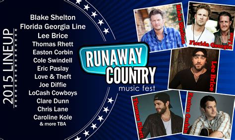 country music festival jacksonville 2014 lineup runaway country music festival