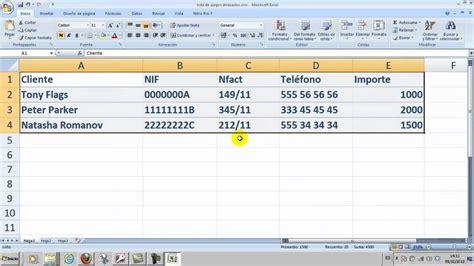 como elaborar hojas de trabajo en excel ofim 225 tica excel 01 crear una hoja de c 225 lculo simple