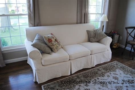 canvas slipcover sofa cozy cottage slipcovers natural brushed canvas sofa slipcover