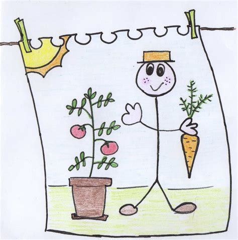 concurso de dibujo premiado con un curso de ingl 233 s en el i concurso infantil mi huerto en vacaciones un huerto
