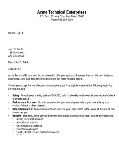 business appointment letter exle sle business appointment letter 7 exles in pdf word