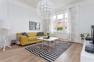 Yellow Gray And White Living Room - 35 light and stylish scandinavian living room designs