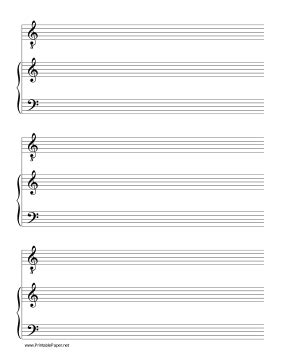 free printable music paper also known as manuscript paper or