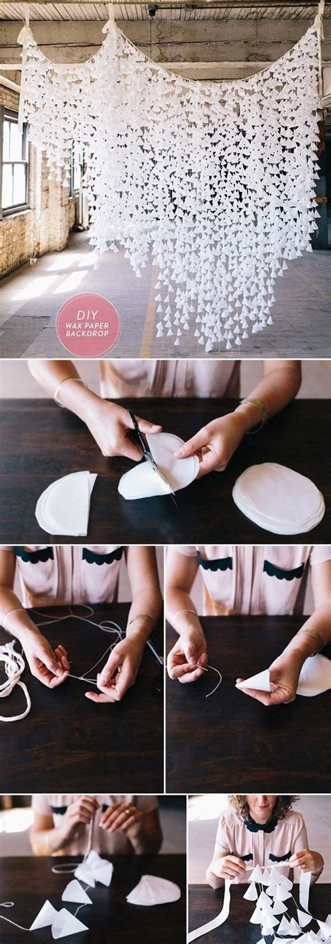 wedding backdrop wax paper 10 diy wedding ideas on a budget oh best day