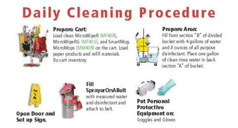 unger restroom products daily cleaning procedure