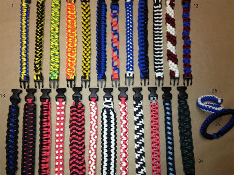 Different Types Of Bracelet Knots - paracord survival bracelet styles and options