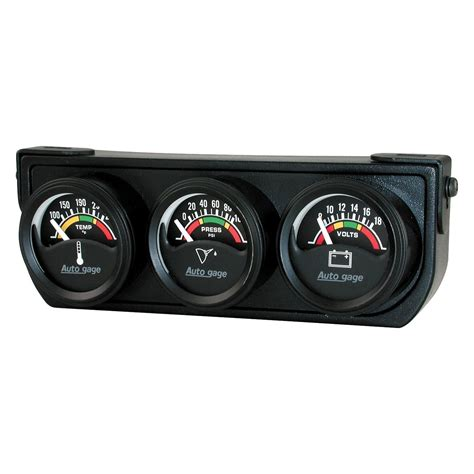 Handmade Gauges - auto meter 174 autogage 1 1 2 quot three black console