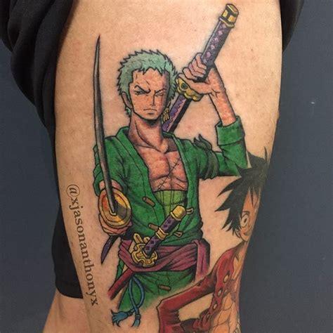 one piece roronoa zoro tattoo pin one piece wallpaper zorro lilzeu tattoo de on pinterest