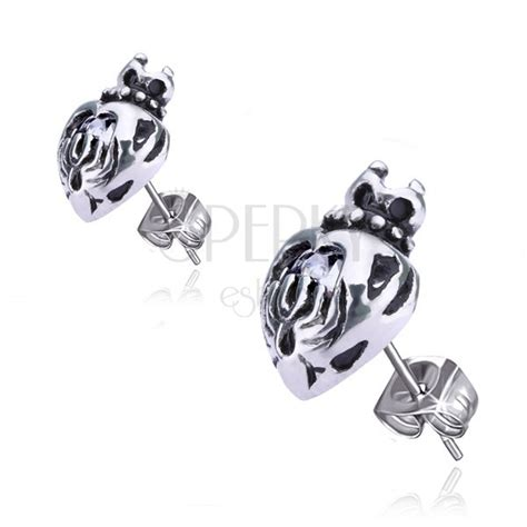 what is surgical steel made of earrings made of surgical steel with crown zircon