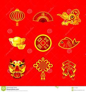chinese new year symbols stock vector image 57179201