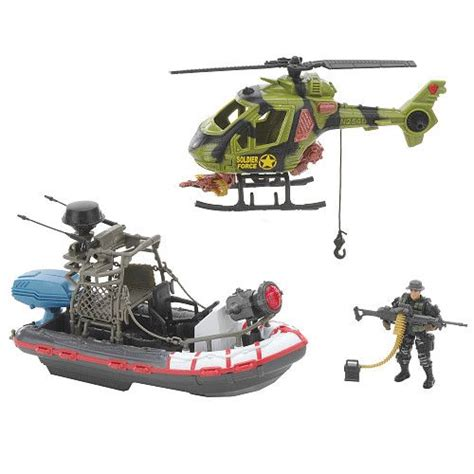 true heroes tactical rescue patrol boat set true heroes boat helicopter military mobile squad toys