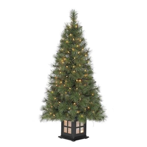 Lowes Trees - living 4 ft pre lit pine artificial