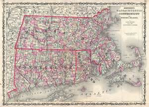 Map Of Massachusetts And Rhode Island by File 1861 Johnson Map Of Massachusetts Connecticut And