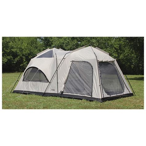 tent room texsport peaks 2 room cabin dome tent 594029 cabin tents at sportsman s guide