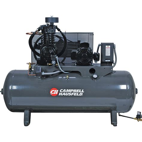 free shipping cbell hausfeld fully packaged air compressor 5 hp 16 6 cfm 175 psi 208