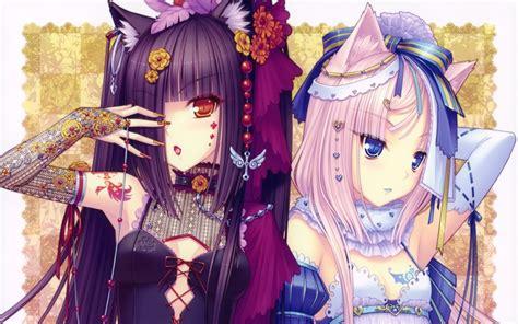 anime girl corset wallpaper blue eyes long hair corset nekomimi pink hair red eyes cat