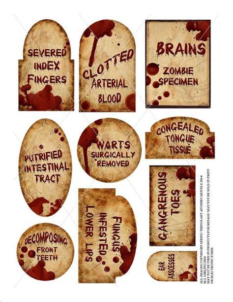 printable halloween specimen jar labels pinterest the world s catalog of ideas