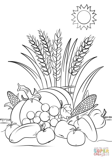 harvest coloring pages fall harvest coloring page free printable coloring pages