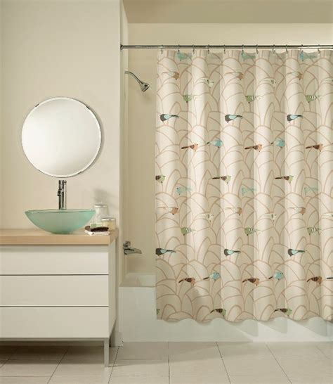 art deco shower curtains art deco sparrow multi colored fabric shower curtain ebay
