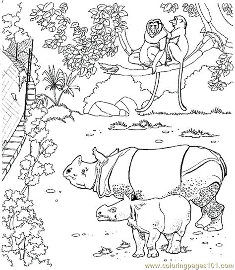 Free Coloring Pages Of Lemurs Free Zoo Animal Coloring Pages