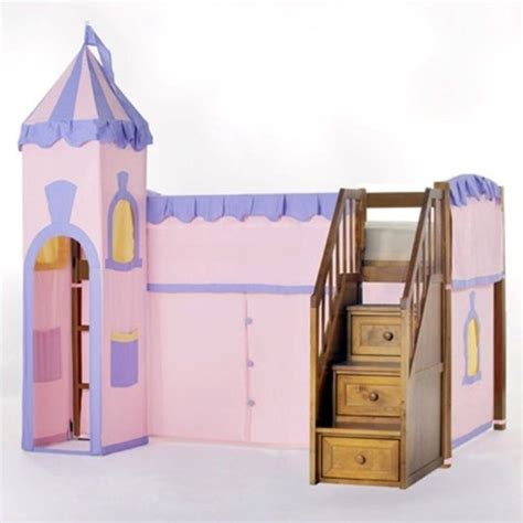 princess loft bed ne kids school house princess loft bed with stairs in