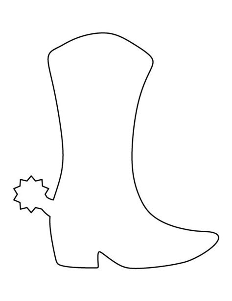 cowboy boot template cowboy boot pattern use the printable outline for crafts