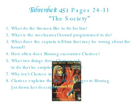 themes in part two of fahrenheit 451 fahrenheit 451 part 1 questions 97 03