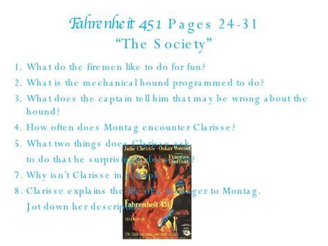 fahrenheit 451 section 1 fahrenheit 451 part 1 questions 97 03