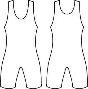 Singlet Outline Colouring Pages sketch template