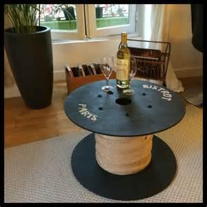 table basse avec bobine de c 226 ble