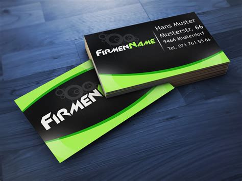 business card template i made with photoshop by plii on