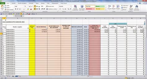 ejemplo de clculo de ptu 2015 calculadora ptu 2015 en excel gratis calculos contables