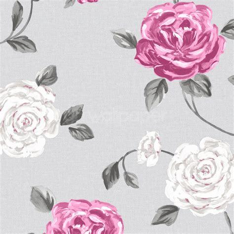 wallpaper grey roses pink and grey wallpaper wallpapersafari