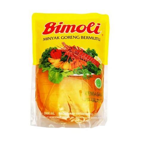 Minyak Goreng Bimoli 5 Liter Di jual bimoli minyak goreng pouch 2000 ml x 2 pouch