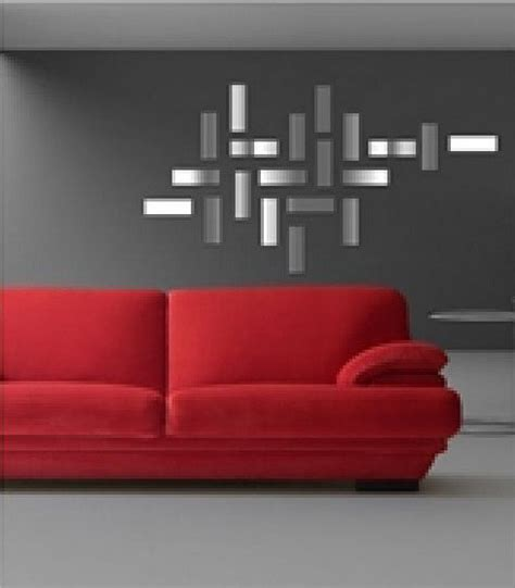 modern wall decals for living room mirror sticker wall decor ideas for spacious room design