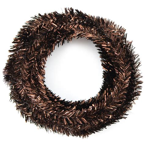 metallic tinsel roping chocolate brown 25 feet
