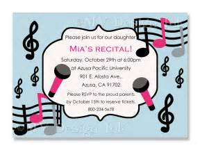 music recital invitation musical birthday party invite