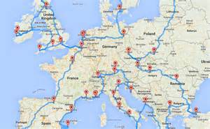 Road Map Of Europe by Europe Road Trip Map By Randy Olson Bucket List