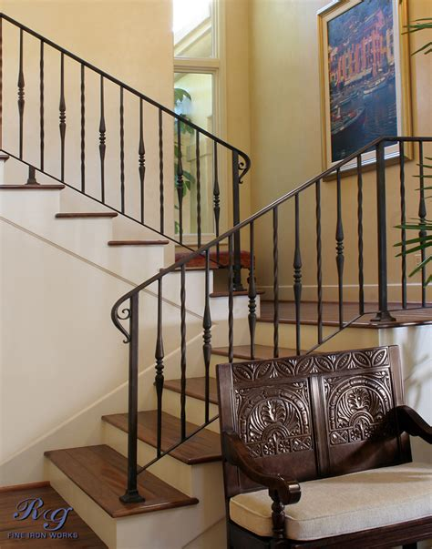 home interior railings rg fine ironworks gallery interior railings