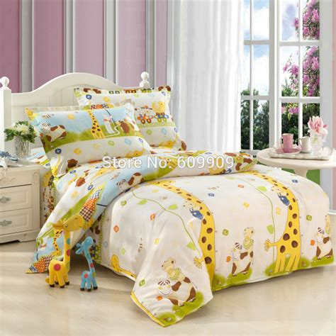 Kid Bedding Set 5 Pieces Giraffe Bedding Set Size Bedding Sheets Duvet Cover Set