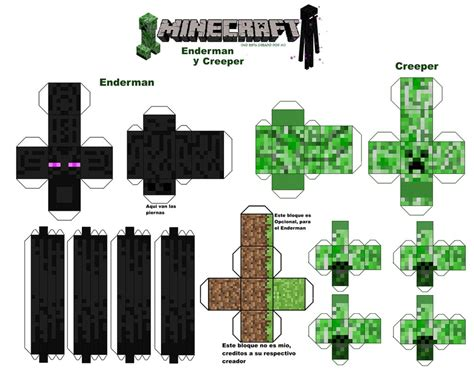 Creeper Papercraft - minecraft papercraft elemental mutant creepers pelautscom