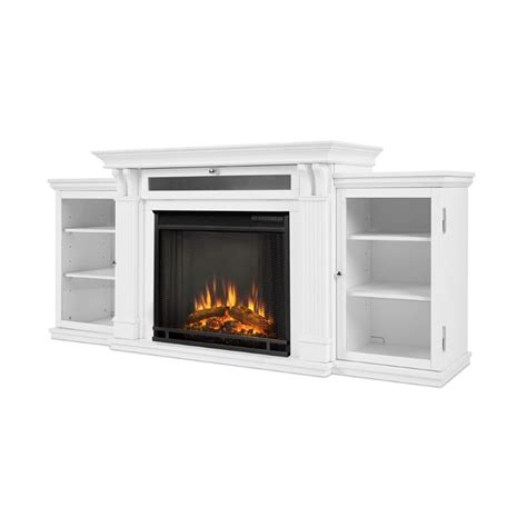real calie electric fireplace entertainment unit in